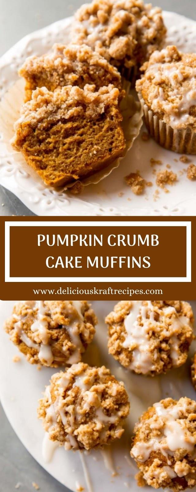 PUMPKIN CRUMB CAKE MUFFINS