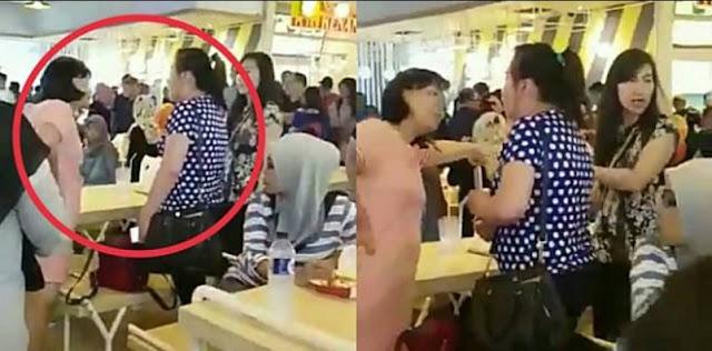 Gara-Gara Rebutan Meja di Food Court,Dua Wanita Ini Jadi Viral