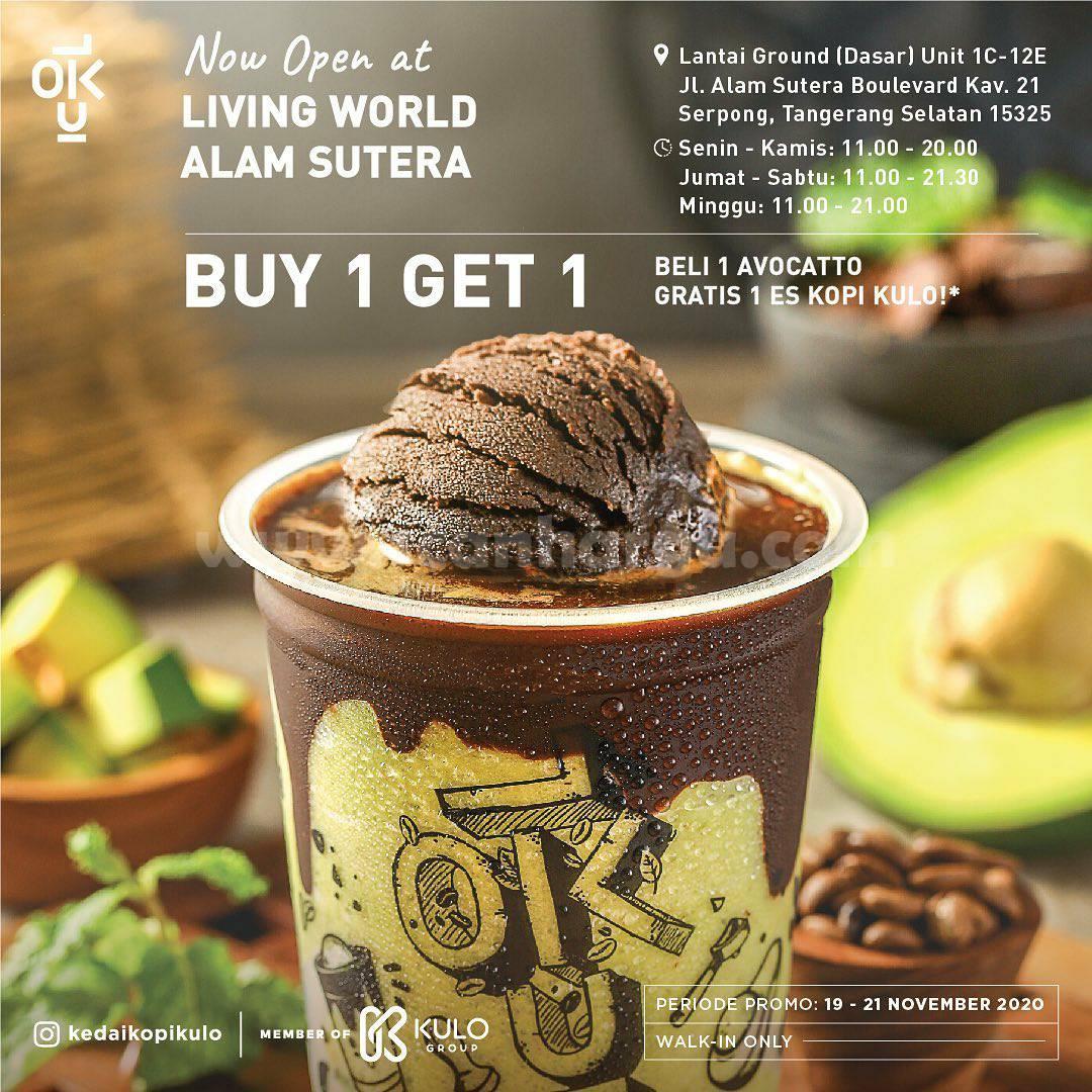 Kedai Kopi Kulo Living World Alam Sutera Grand Opening Promo Buy1 Get 1