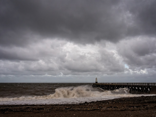 Photo of storm clouds over Maryport beach