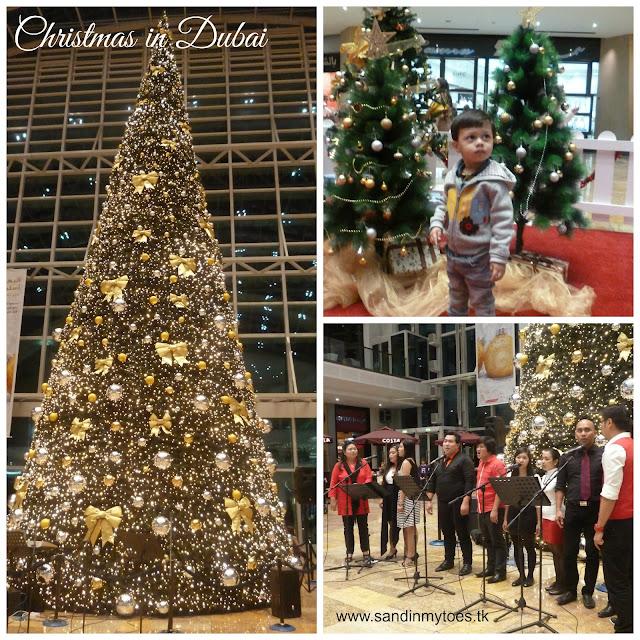 Christmas tree at Dubai Festival City