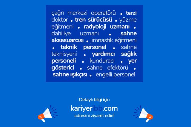 İstanbul Büyükşehir Belediyesi güncel iş ilanları kariyeribb.com'da! Kariyer İBB iş ilanlarını buradan takip edebilirsiniz.