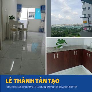 chung cư Lê Thành Tân Tạo 36,5m2 block c