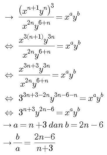 gunakan sifat perpangkatan dan pembagian pada bilangan berpangkat www.jawabanbukupaket.com