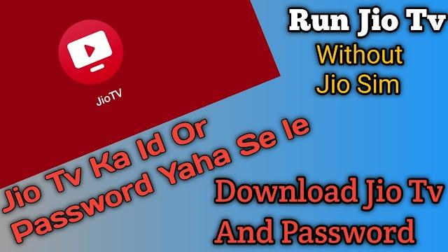 Run jio Tv Without Jio Sim  (Mod Jio Tv App For Mobile)