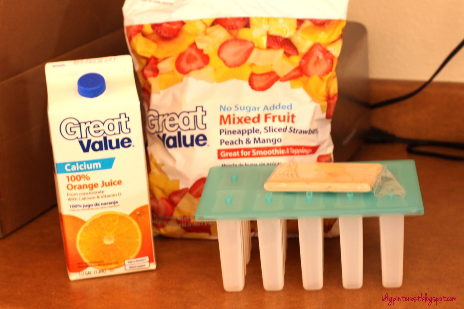 I Dig Pinterest: Fruit Smoothie Popsicles