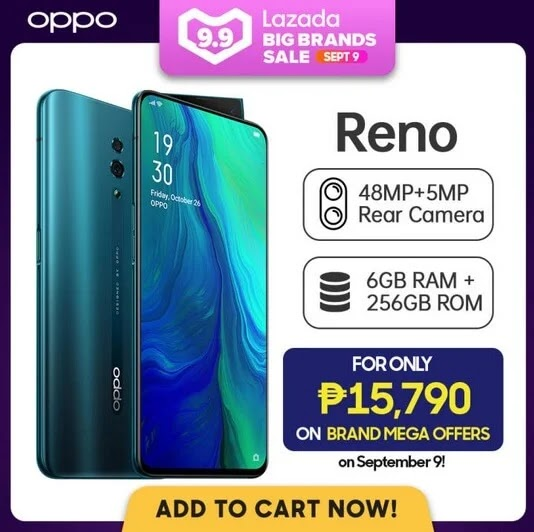 DEAL ALERT: OPPO Reno To Be On SALE This September 9 for ONLY Php15,790 (Instead of Php26,990)