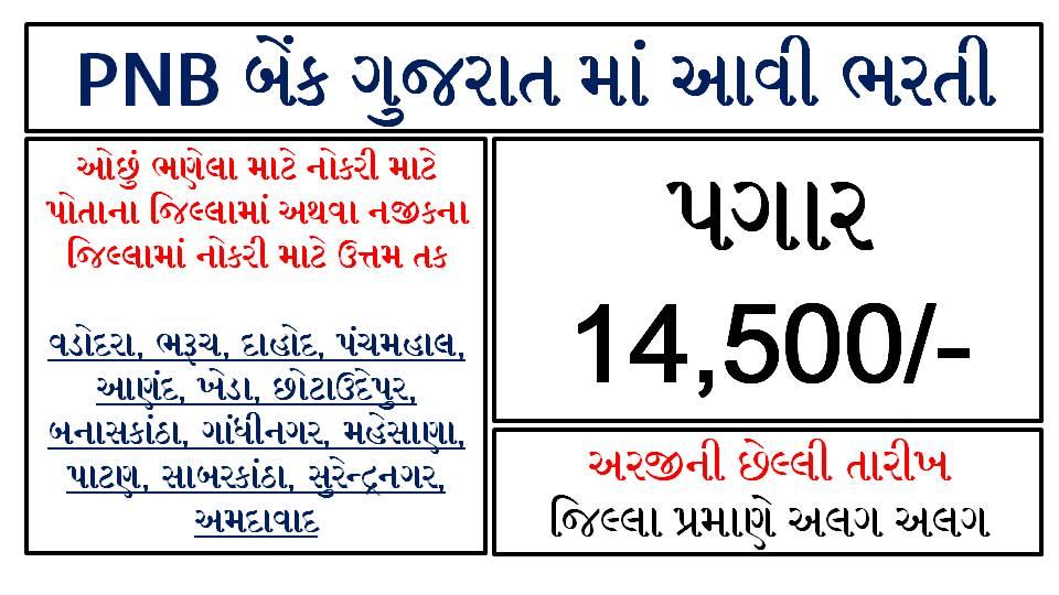 Punjab National Bank Gujarat Peon Recruitment 2021