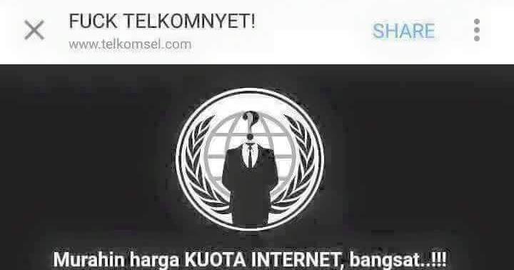 Wow Situs Resmi Telkomsel Di Hack Gara Gara Tarif Paket Kuota