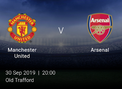 LIVE MATCH: Manchester United Vs Arsenal Premier League 30/09/2019