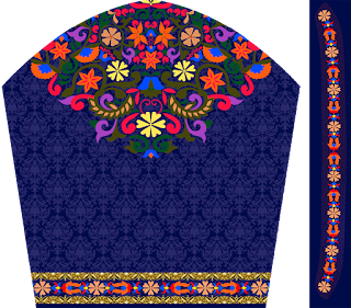 textile digital print design choli slive
