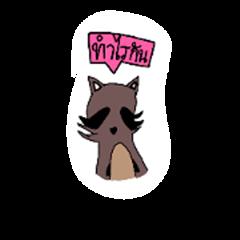 kawai raccoon