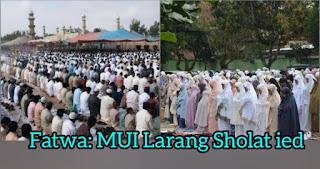 Fatwa MUI Larang Sholat Ied