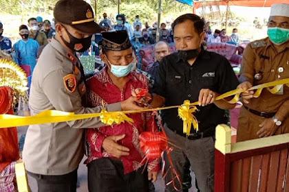 Ketua DPRD Inhil dan Kapolsek GAS Resmikan Rumah Layak Huni untuk Guru Ngaji
