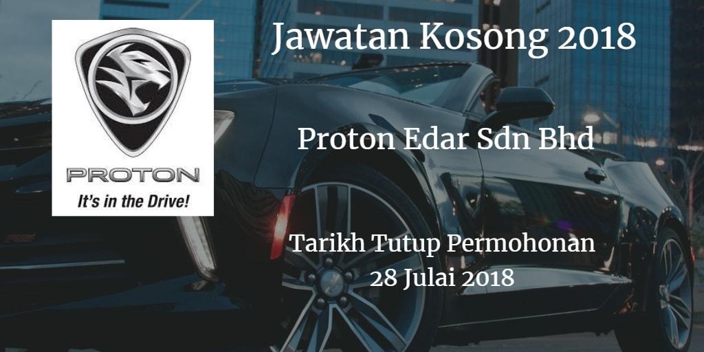 Jawatan Kosong Proton Edar Sdn Bhd 28 Julai 2018