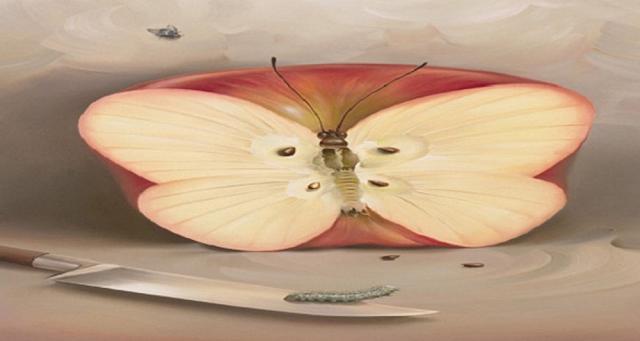 Ce ai văzut mai întâi în această fotografie? Un mar, un cuțit sau un fluture: fiecare dintre ele reprezintă un simbol al personalității!