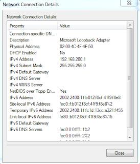 IP Address Loopback Adaptor