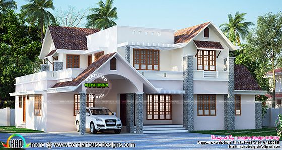 January 2016 kerala home design and floor plans for Beautiful house design 2016