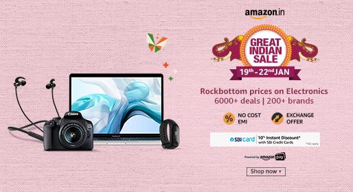 Amazon great Indian sale consumer electronics sale