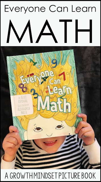 Are you looking for a fun way to begin talking about math to your young children? Everyone Can Learn Math is the story of Amy who decides to push through her math anxieties and is the perfect book to instill a growth mindset in our kids.