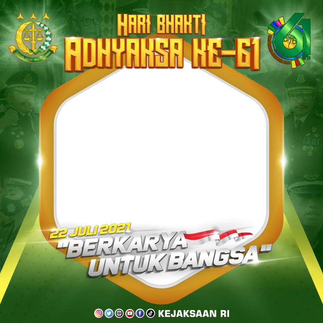 Link Download Bingkai Twibbon Hari Bhakti Adhyaksa ke 61 - Hari Kejaksaan RI 2021 - Twibbonize