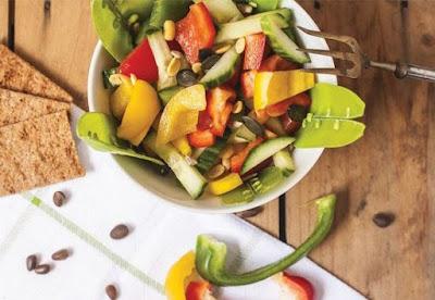 Frutar verduras saludables calor