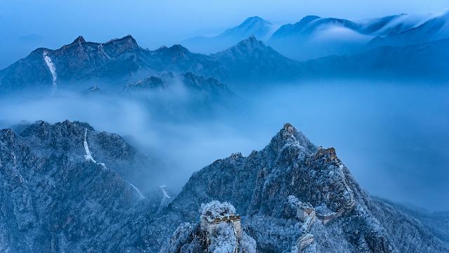 màu xanh từ rặng núi cao