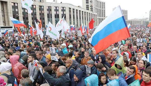 Moscú ve la mayor protesta de los últimos 7 años