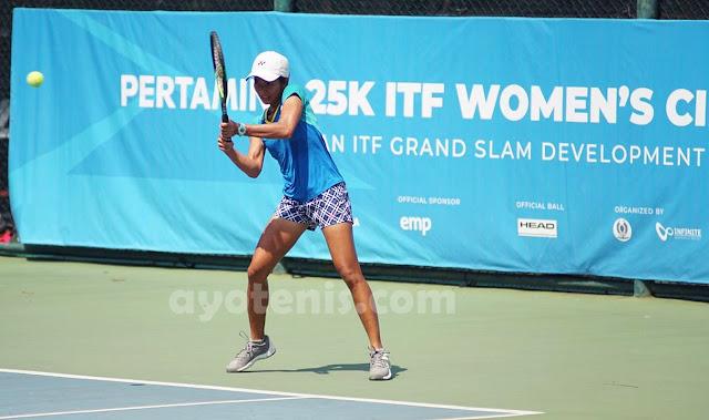 Deria Nur Haliza Melenggang ke Babak Utama Turnamen Tenis Pertamina 25K ITF Women's Circuit