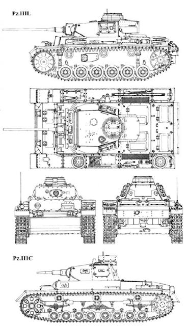 Немецкий танк Pz. III L и Pz. III C