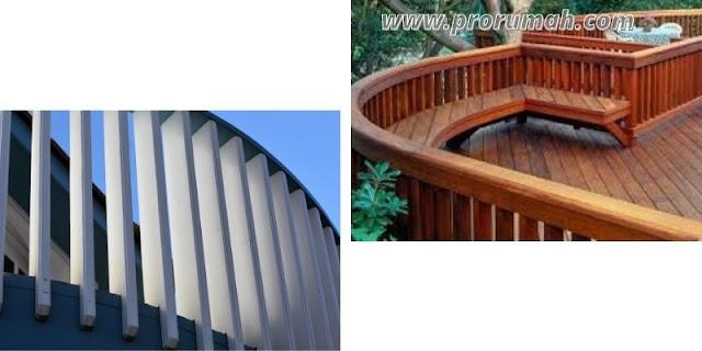 Desain Pagar Kayu Balkon Memutar