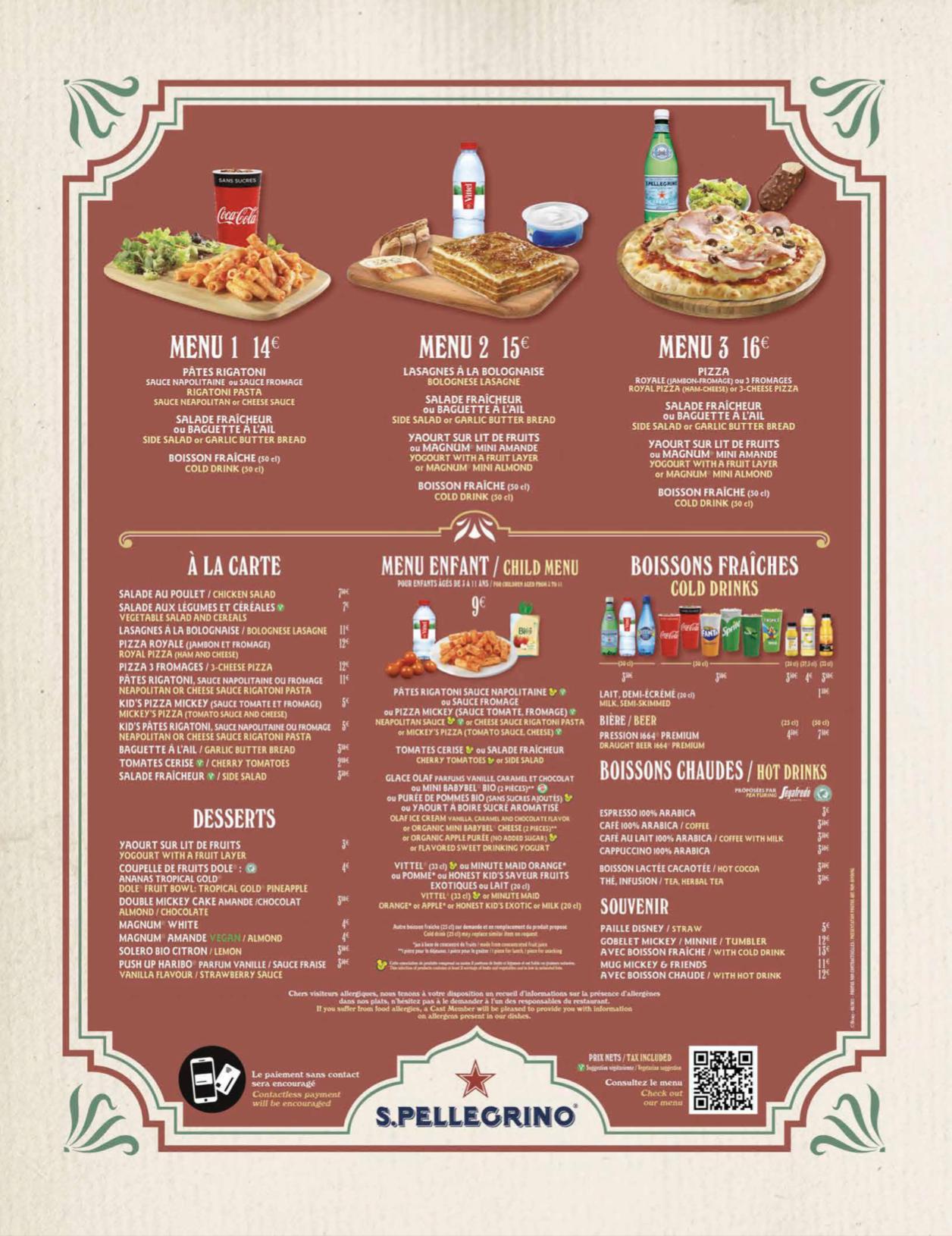 Menu Restaurante Coronel Hathi's Pizza Outpost