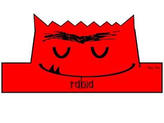 corona del monstruo de colores para imprimir