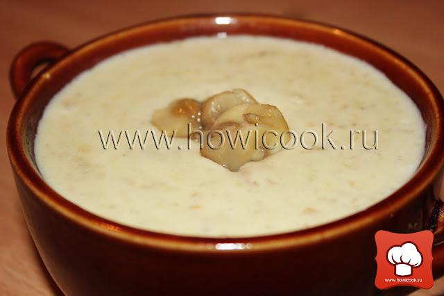 рецепт как приготовить грибной суп-пюре крем-суп