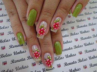 unhas decoradas verdes 4