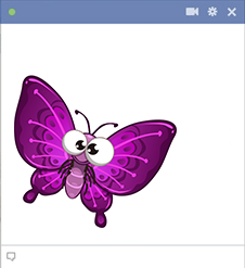 Purple Butterfly for Facebook