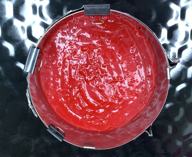 cake mix in springform
