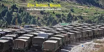 An army convoy to ladakh