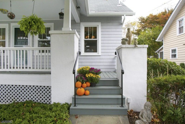 front porch close up of Sears Uriel or Sears Conway • 5 Orchard Street, Mendham, New Jersey
