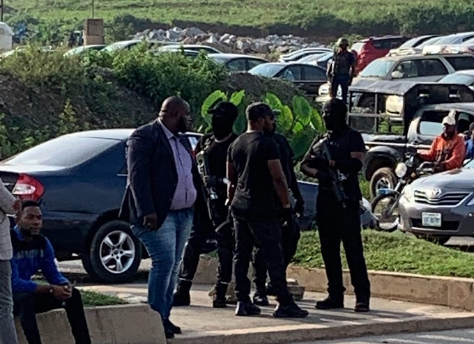 JUST IN: Security operatives arrest two unknown protesters at COZA