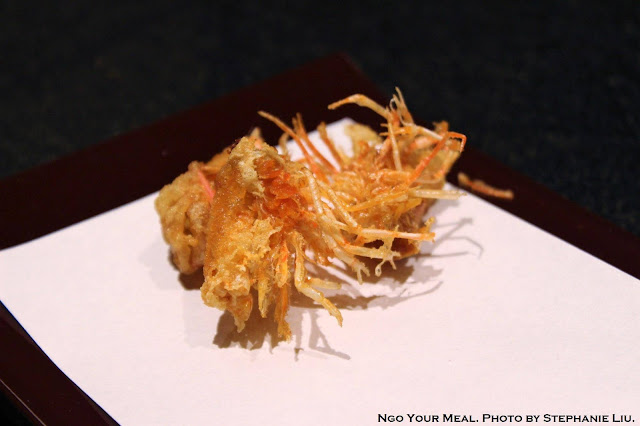 Shrimp Tempura Heads at Tempura Endo Yasaka