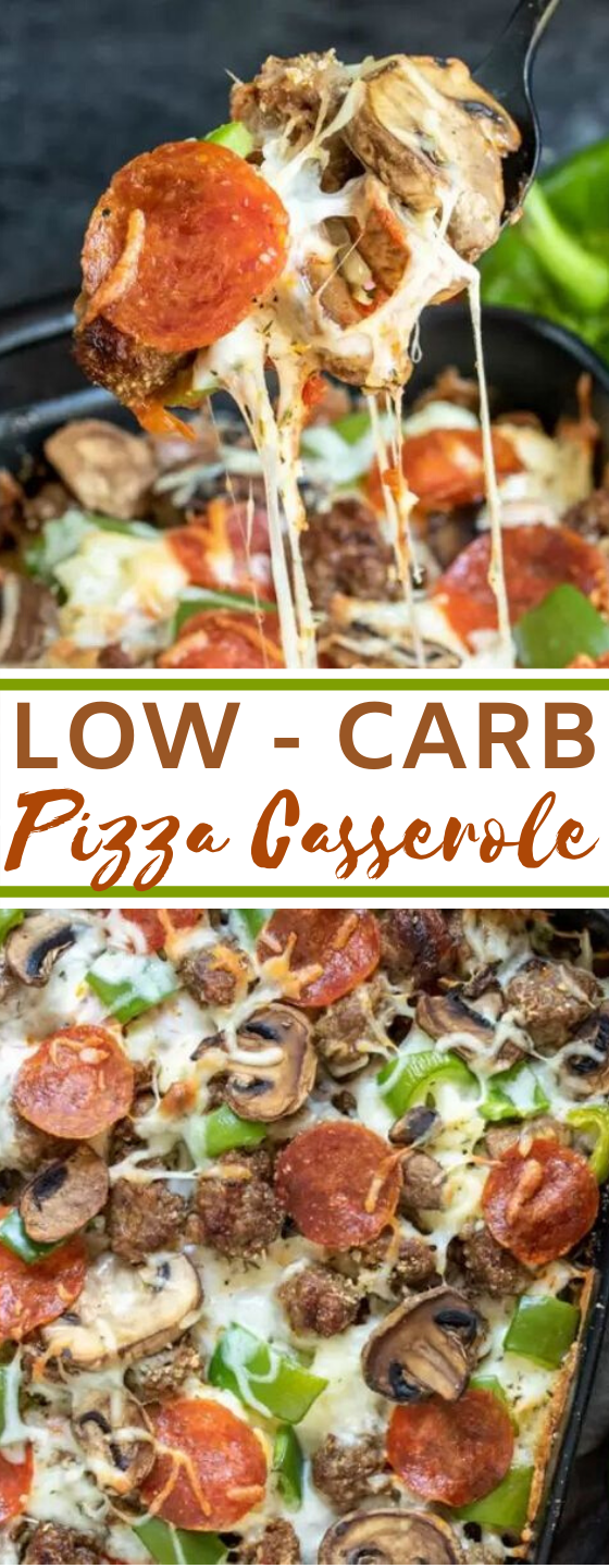 Low Carb Pizza Casserole #healthy #diet #lowcarb #dinner #keto