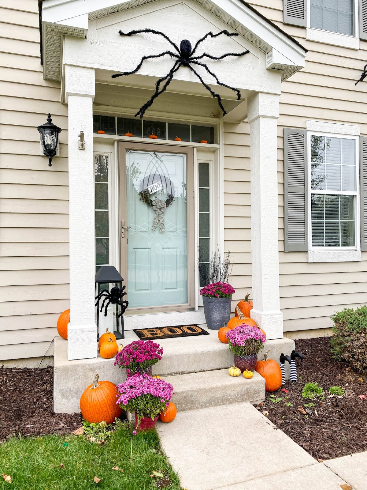 cute halloween porch decor
