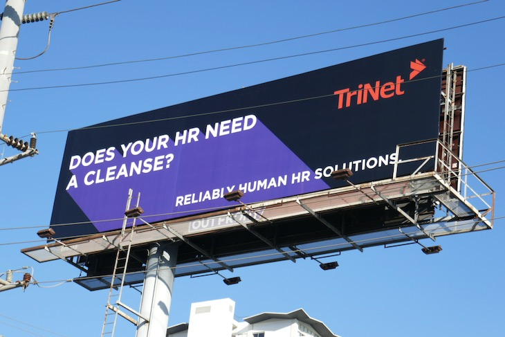 Does your HR need a cleanse TriNet billboard
