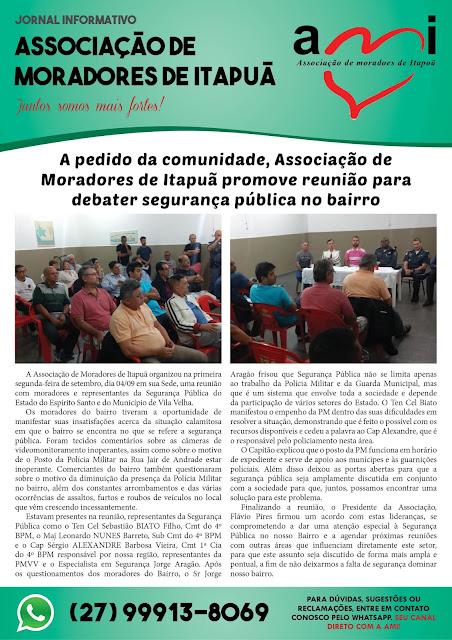 Informativo: Associação de Moradores de Itapuã