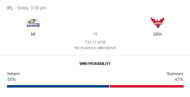 आईपीएल 13 के 17th और 18th मैच 4th October 2020 की भविष्यवाणी - MI vs SRH और KXI vs CSK