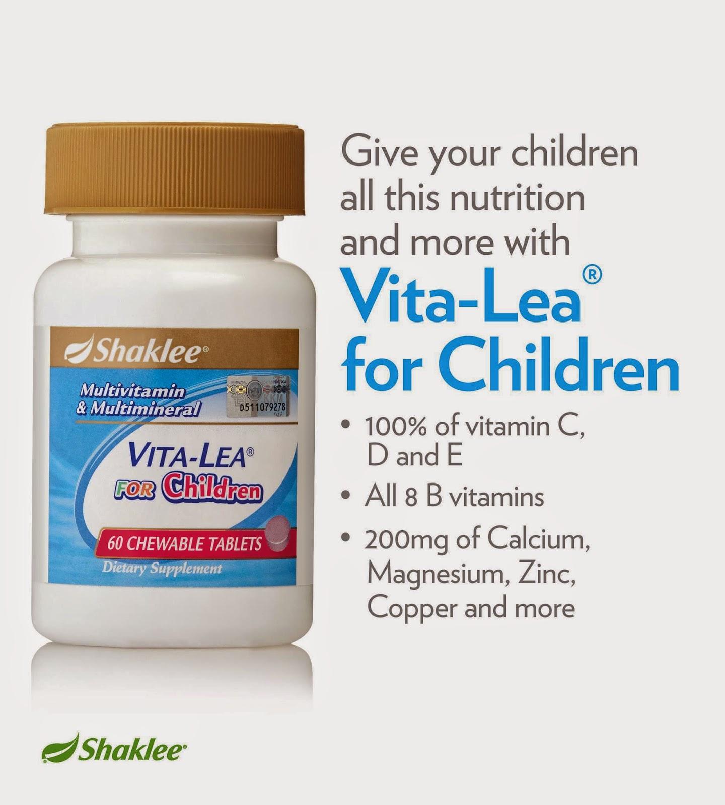 Chewable Vita-Lea for Children Shaklee membantu merawat masalah resdung kanak-kanak