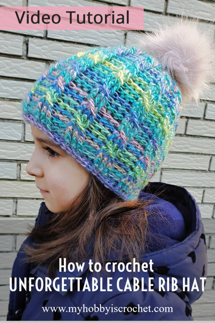 Unforgettable Cable Rib Hat Tutorial
