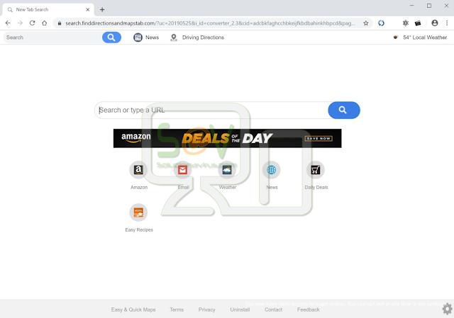 Finddirectionsandmapstab.com (Hijacker)