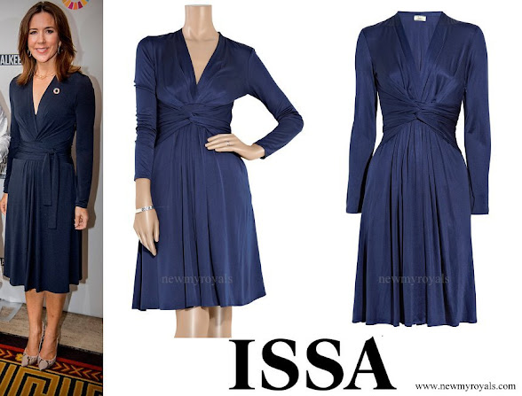 Crown Princess Mary wore Issa Royal Engagement silk-jersey dress